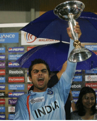 Memes, Reebok, and World Cup: LIANCe  ile  ates Reebok  ce FIN Emirates  OSI  ates  MALAY  (INDA  ebok IFI Emira  IAN #OnThisDay in 2008, Virat Kohli led India to victory in the ICC U19 Cricket World Cup Final in Kuala Lumpur! Do you remember who else was in his side that day?