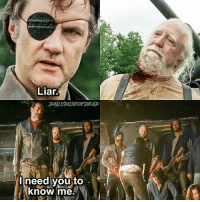 Memes, 🤖, and Twd: Liar.  I need you to  know me. The Governor or Negan? ;0 TheWalkingDead TWD WalkingDead