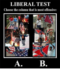 s: LIBERAL TEST  Choose the column that is most offensive: s