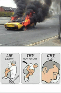 Must... not... cry... Car Throttle: LIE  DOWN  TRY  NOT TO CRY  CRY  A LOT Must... not... cry... Car Throttle