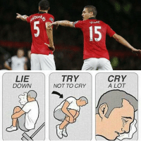 When United fans see these two leaving..: LIE  DOWN  TRY  NOT TO CRY  CRY  A LOT When United fans see these two leaving..