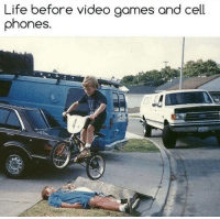 Life, Memes, and Video Games: Life before video games and cell  phones. Those were the days.