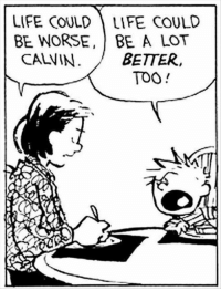 Life, MeIRL, and Calvin: LIFE COULD LIFE COULD  BE WORSE, BE A LOT  CALVIN  BETTER  TOO meirl