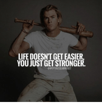 Double tap if you agree! | MotivatedMindset: LIFE DOESNT GET EASIER  YOU JUST GET STRONGER  @MOTIVATED.MINDSET Double tap if you agree! | MotivatedMindset