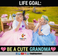 Life Goal: LIFE GOAL:  LAUGHING  BE A CUTE GRANDMA