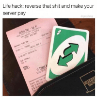 Funny, Life, and Shit: Life hack: reverse that shit and make your  server pay  drgrayfang  Tax 1:  2/12/2018 Nobu tnt