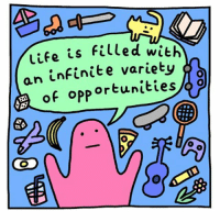 Life, Memes, and Artist: Life is filled with  an infinite variety  f opportunities (artist: @webcomic_name) hM