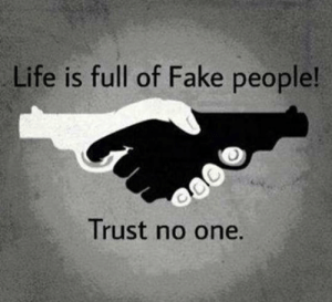 Fake, Life, and Tumblr: Life is full of Fake people!  Trust no one. srsfunny:Trust Nobody