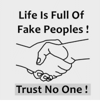 trust no one: Life Is Full Of  Fake Peoples  Trust No One
