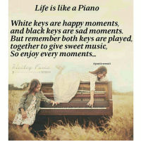 Memes, Piano, and Friendship: Life is like a Piano  White keys are happy moments,  and black keys are sad moments.  But remember both keys are played,  together to give sweet music,  So enjoy every moments...  @positiveresult Tag friends Check out all of my prior posts⤵🔝 Positiveresult positive positivequotes positivity life motivation motivational love lovequotes relationship lover hug heart quotes positivequote positivevibes kiss king soulmate girl boy friendship dream adore inspire inspiration couplegoals partner