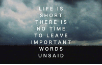 Life, Tumblr, and Best: LIFE IS  SHORT  THERE IS  N O TIME  TO LEA VE  IMPORTANT  WORDS  UNSAID silly-luv:  ♡ find your best posts on my blog ♡