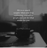 Life, Memes, and 🤖: life is so much  simpler when you stop  explaining yourself to  people and just do what  works for vou