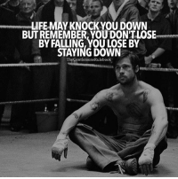 Get back up every single time! LIKE & TAG SOMEONE WHO NEDS THIS!: LIFE MAY KNOCK YOU DOWN  BUT REMEMBER, YOUDONTLOSE  BY FALLING, YOU LOSE BY  STAYING DOWN  TheGentlemens Rulebook Get back up every single time! LIKE & TAG SOMEONE WHO NEDS THIS!