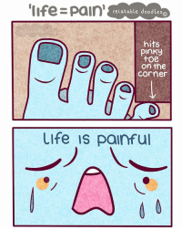 WHY DOES THIS HURT SO MUCH????????? (thanks for 90.9k! 💕) comment '💙' if you read the caption 🌸: life pain  relatable doodles  hits  Pinky  toe  on the  Corner  Life is painful WHY DOES THIS HURT SO MUCH????????? (thanks for 90.9k! 💕) comment '💙' if you read the caption 🌸