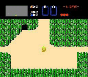 In The Legend of Zelda (NES, 1986) how exactly does Link end up in the middle of nowhere without a weapon? Is there a backstory that can shed light on this strange predicament?: -LIFE-  PXO In The Legend of Zelda (NES, 1986) how exactly does Link end up in the middle of nowhere without a weapon? Is there a backstory that can shed light on this strange predicament?