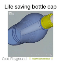 Follow @inventastic 💡for more DIY Awesome cool craft love like 20likes amazing smile iphone look swag girl boy followme: Life saving bottle cap  Play  Ground  Cred Playground  follow (ainventious Follow @inventastic 💡for more DIY Awesome cool craft love like 20likes amazing smile iphone look swag girl boy followme