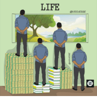 The balance of money and education: LIFE  @UGOJESSE The balance of money and education