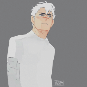 Target, Tumblr, and Blog: LIGHTNINA  STRIKES lightningstrikes-art: lightningstrikes-art:  Shiro returns in S3 but this time his hair is entirely white #spacegrandpa  Me, 1.5 years later: F U C K