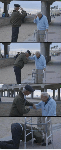 Memes, Survivor, and 🤖: lIIWP! Holocaust survivor salutes US soldier who liberated him from concentration camp.