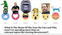 You guys seen my Boi Hugh Mungus!?: Like  Angry  WoW  What Is The Meme Of The Year (So Far and Why  aren't we spending more time on  relevant topics like electing Berniecrats?! You guys seen my Boi Hugh Mungus!?