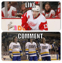 Hockey, Awesome, and Thought: LIKE  COMMENT  CHIEF  edical  XPRESS  bal  ANU Thought this one would be awesome.  First to 2k: Player Edition 3/10 rounds.  Like for Datsyuk Comment for Hanson Brothers  -winch