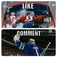 Hockey, First, and Comment: LIKE  COMMENT First to 1k: Goalie Edition 2/10 rounds.  Like for Roy Comment for Luongo   -winch