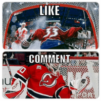 Hockey, First, and Comment: LIKE  COMMENT First to 2k: Goalie Edition 3/10 rounds.  ROY WINS AGAIN!  Like for Roy Comment for Brodeur  -winch