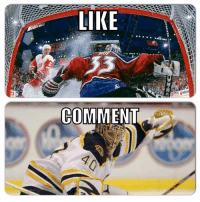 Hockey, Can, and First: LIKE  COMMENT First to 2k: Goalie edition 5/10 rounds.  Roy has won 4 times in a row.. Can he win a 5th?  Like for Roy Comment for Rask  -winch