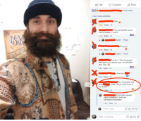 cat daddy: Like Comment Share  and 82 others  View 6 more comments  Wow.1  Haha Reply 1d  Ha your beard is out of  control brother. I love it.  5%  Love Reply 1d  Swag lord  Love Reply 1d  Fun fact I think the jacket  belonged to my mom's aunt. It's def older  than I am.  05 4  Like Reply 1d  I miss you  Like Reply 1d  es, that jacket was  AuntWhen did you take it out of  my closet??  Reply 5h  Some ugly sweater  party sometimel!! I had your  permission hahahaha  Like Reply 1m  Write a reply  Write a comment...