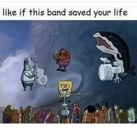 Memes, Ugly, and Blue: like if this band saved your life LMFAOOOO @dramup that blue nigga on the left UGLY af