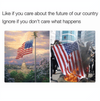 "Future, Memes, and Back: Like if you care about the future of our country  Ignore if you don't care what happens Amen!! 🙌🏼🇺🇸 Double Tap & Comment ""USA"" letter by letter for a follow back!"
