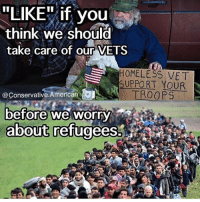 """Vets before refugees🇺🇸 DonaldTrump America Trump protest usa Trump2020 liberals democrats Republicans conservatives buildthewall fakenews cnn like maga president obama immigrants follow politics prolife funny savage instagram presidenttrump lol Partners --------------------- @too_savage_for_democrats🐍 @raised_right_🐘 @conservativemovement🎯 @millennial_republicans🇺🇸 @ny_conservative1776😎 @floridaconservatives🌴: """"LIKE"""" if you  think we should  take care of our VETS  H0MELESS VET  SUPPORT YOUR  @Conservative.American  before we worry  about refugees. Vets before refugees🇺🇸 DonaldTrump America Trump protest usa Trump2020 liberals democrats Republicans conservatives buildthewall fakenews cnn like maga president obama immigrants follow politics prolife funny savage instagram presidenttrump lol Partners --------------------- @too_savage_for_democrats🐍 @raised_right_🐘 @conservativemovement🎯 @millennial_republicans🇺🇸 @ny_conservative1776😎 @floridaconservatives🌴"""