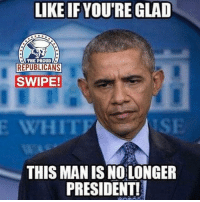 Anaconda, Click, and Memes: LIKE IF YOU'RE GLAD  THE PROUD  REPUBLICANS  SWIPE!  E  WHIT  ISE  THIS MAN IS NO LONGER  PRESIDENT! 🇺🇸FREE Flags! Click the LINK IN MY BIO to claim yours! There's only 100 flags left! 🇺🇸