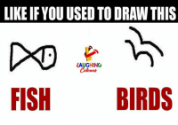 Birds, Fish, and Indianpeoplefacebook: LIKE IFYOU USED TO DRAW THIS  LAUGHING  FISH BIRDS