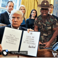 Memes, Fuck That, and Old School: Like my  We | re  African  Bringing Back  American  OLD-SCHOOL  Dill  DS Backbone  Sergeants  Tap to tag friends Fuck that, this is funny! If this offends you; Rumble Me. Lmao I actually lost followers yesterday posting this on FB. ILoseFollowersEveryDayB butsarge videooftheday yushathomas @theempirecompany