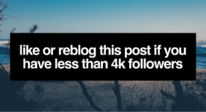 Tumblr, Blog, and Help: like or reblog this post if you  have less than 4k followers thegoodvybe:  i'll shoutout 10 tumblr's to my +998,000 followers but first: you must help me with ⇛ this ⇚ (i check) IMPORTANT: if you didn't help, do not like this post!!!