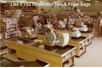 Memes, 🤖, and Paper: Like  Ou Remember This,& Paper Bags Who remembers when grocery stores were like this ?  ms