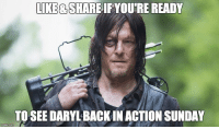 FEB 12th IS SO CLOSE!! #TWD #THEWALKINGDEAD #RISEUP Norman Reedus: LIKE  SHAREIFAVOURE READY  TO SEE DARYLBACKIN ACTION SUNDAY FEB 12th IS SO CLOSE!! #TWD #THEWALKINGDEAD #RISEUP Norman Reedus