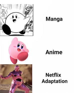Anime, Drugs, and Netflix: LIKE THE  BooK  Manga  Anime  Netflix  Adaptation Kirby on Drugs