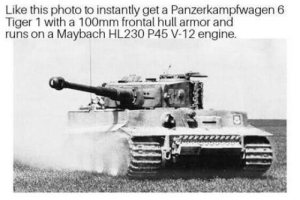 No extra charges!: Like this photo to instantly get a Panzerkampfwagen 6  Tiger 1 with a 100mm frontal hull armor and  runs on a Maybach HL230 P45 V-12 engine. No extra charges!