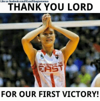 And there it is! First win of the season!: Like us: facebook.com/PSLandvleaguememes  THANK YOU LORD  THE  EAST  FOR OUR FIRST VICTORY! And there it is! First win of the season!