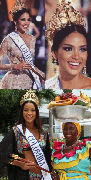 Miss Colombia, Tumblr, and Blog: lil-eros: mesqueunfilm:  Miss Colombia 2015-2016 Andrea Tovar Second Afro-Colombian to be crowned 😍🙌  Mis reinas  3