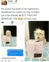 """""""wtf how cute""""   For more @aranjevi: lil kait  kaitlynserna  My cousin has been w her highschool  sweetheart for 7years no ring, no baby,  just a son Kasper  BUT THEN SHE  SENDS ME THIS  wtf how cute  132  Harley  How to  be a  BROTHER  How to  be a  Yesterday 5:11 PM  BROTHER  CONGRATULATIONS TO ALL 3 OF  YALL, LOVE YALLLLL  Delivered  Hahahaha thanks love you more!  N A """"wtf how cute""""   For more @aranjevi"""