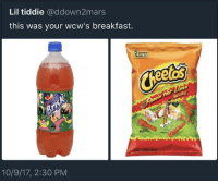 Blackpeopletwitter, Ratchet, and Breakfast: Lil tiddie @ddown2mars  this was your wcw's breakfast.  O GRAMS  TRANS FAT  10/9/17, 2:30 PM <p>Every ratchet girl in class (via /r/BlackPeopleTwitter)</p>