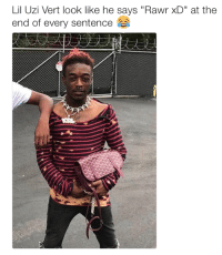 """Rawr Xd: Lil Uzi Vert look like he says """"Rawr xD"""" at the  end of every sentence"""