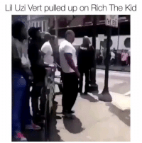 Memes, 🤖, and Uzi: Lil Uzi Vert pulled up on Rich The Kid Looks like LilUzi was ready to put the paws on RichTheKid What y'all think they was arguing about? . . From @theshaderoom BiggasBestBuys_