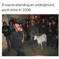 Unseen pic of lilwayne attending a punk show 😮😂: lil wayne attending an underground  punk show in 2008 Unseen pic of lilwayne attending a punk show 😮😂