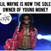 "After winning a long battle with his former record label Cash Money, Lil Wayne is now the sole owner of Young Money. According to his new BillBoard interview, Lil Wayne revealed that Young Money is no longer connected to Cash Money. In June, the lawsuit against Cash Money was settled and Lil Wayne was granted full ownership of Young Money as a apart of the settlement. Lil Wayne also announced that his new album ""The Carter 5"" will be coming out on September 21st which will be distributed through Republic Records. RapTVSTAFF: Charlie! @thatkidcm: LIL WAYNE IS NOW THE SOLE  OWNER OF YOUNG MONEY  et  TRUKFIT After winning a long battle with his former record label Cash Money, Lil Wayne is now the sole owner of Young Money. According to his new BillBoard interview, Lil Wayne revealed that Young Money is no longer connected to Cash Money. In June, the lawsuit against Cash Money was settled and Lil Wayne was granted full ownership of Young Money as a apart of the settlement. Lil Wayne also announced that his new album ""The Carter 5"" will be coming out on September 21st which will be distributed through Republic Records. RapTVSTAFF: Charlie! @thatkidcm"