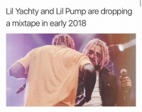 Memes, Mixtape, and 🤖: Lil Yachty and Lil Pump are dropping  a mixtape in early 2018 lilyachty and lilpump are dropping a mixtape together in 2018 👀