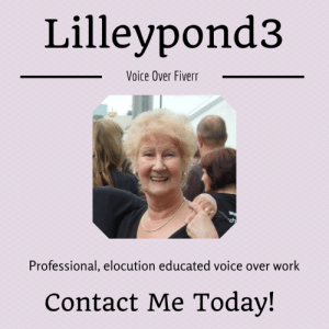 meme-mage:  A voice that can be tailored to your needs. I am an English lady with an elocution educated voice. I am happy to record commercials, book narration, advertisement's etc. A $5 gig will give you 150 words. If you need additional words simply purchase additional gigs. https://www.fiverr.com/lilleypond3/record-a-female-professional-voice-over : Lilleypond3  Voice Over Fiverr  ch  Professional, elocution educated voice over work  Contact Me Today! meme-mage:  A voice that can be tailored to your needs. I am an English lady with an elocution educated voice. I am happy to record commercials, book narration, advertisement's etc. A $5 gig will give you 150 words. If you need additional words simply purchase additional gigs. https://www.fiverr.com/lilleypond3/record-a-female-professional-voice-over